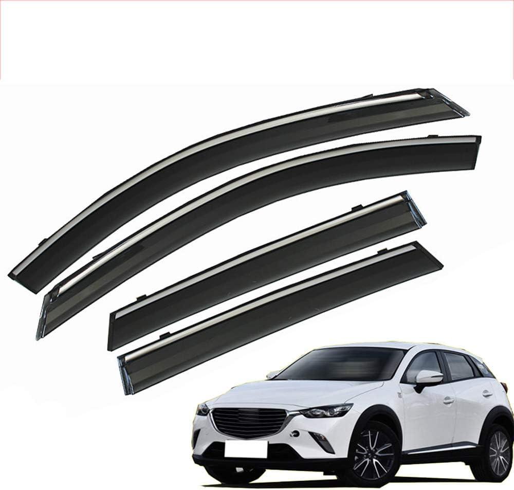 Verre Acrylique avec Pare-Soleil Protection Contre la Pluie et Le Soleil ZTJ Lot de 4 d/éflecteurs dair pour Mazda CX-3 2018 2019