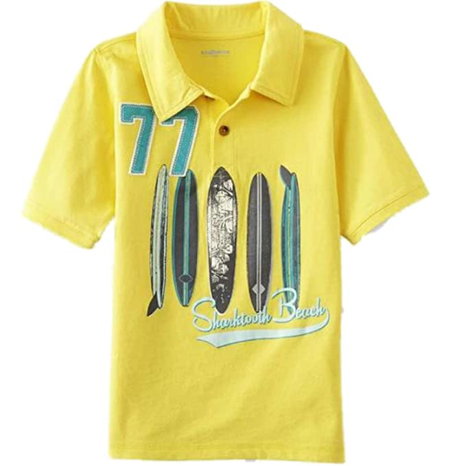 dd5503f80 Amazon.com: Toughskins Infant & Toddler Boys Yellow Polo Surfboard T ...