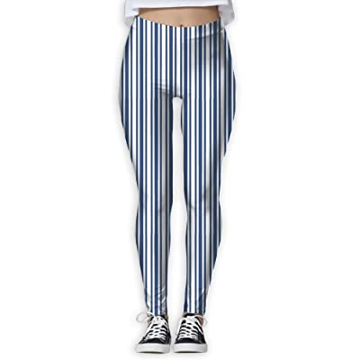 FINOHM Blue Stripes Provide Women with High-Waisted, Ultra Soft Lightweight Gym Yoga Leggings