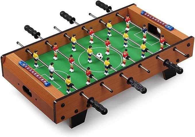 BAKAJI 2816397 - Futbolín de Mesa de Madera MDF con Patas de ...