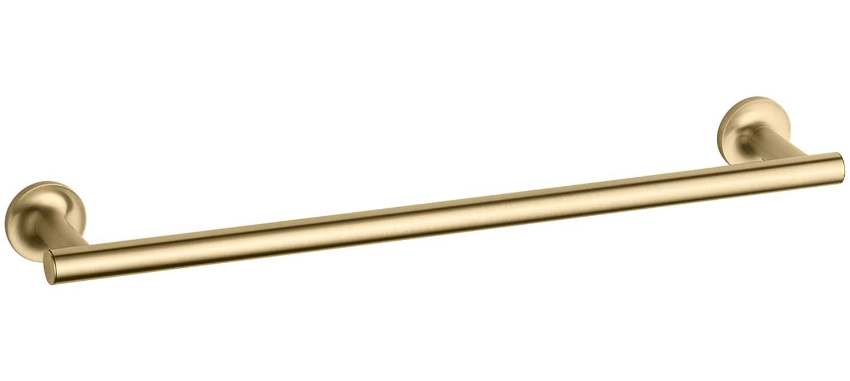 Vibrant Moderne Brushed Gold KOHLER K-14435-BGD Purist 18-Inch Single Towel Bar