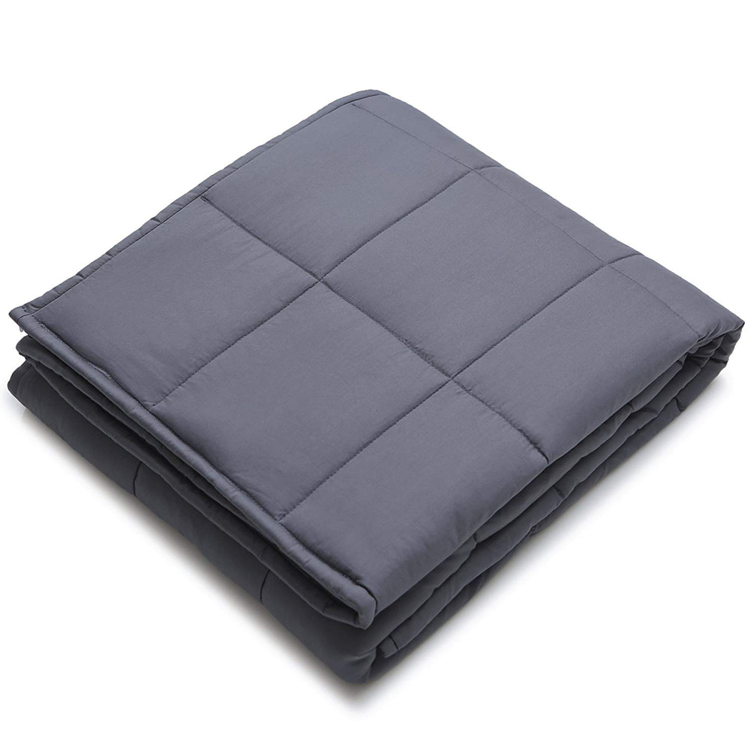 YnM Weighted Blanket (7 lbs for Kids, 41''x60'') | Gravity 2.0 Heavy Blanket | 100% Cotton Material with Glass Beads | Great Sleep Therapy for People with Anxiety, Autism, ADHD, Insomnia or Stress