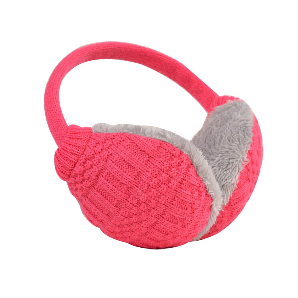 17YEARS Cozy Design Fluffy Winter Adjustable Earwarmers Knitted Soft Warm Ear Muffs