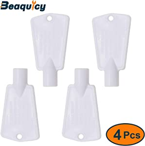 297147700 Upright & Chest Freezer Door Lock Key by Beaquicy - Replacement for Frigidaire Gibson Kelvinator Kenmore Freezers - Lock Key Kit for 4 Pack Set