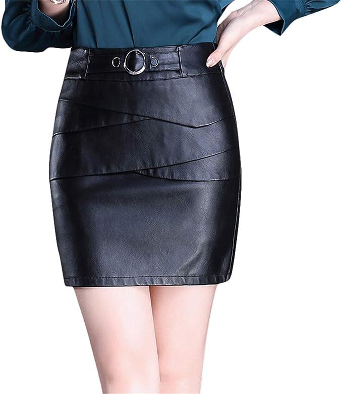 Xiuy Elegante Sexy Faldas Cortas Slim Negro Una Falda Ajustada ...