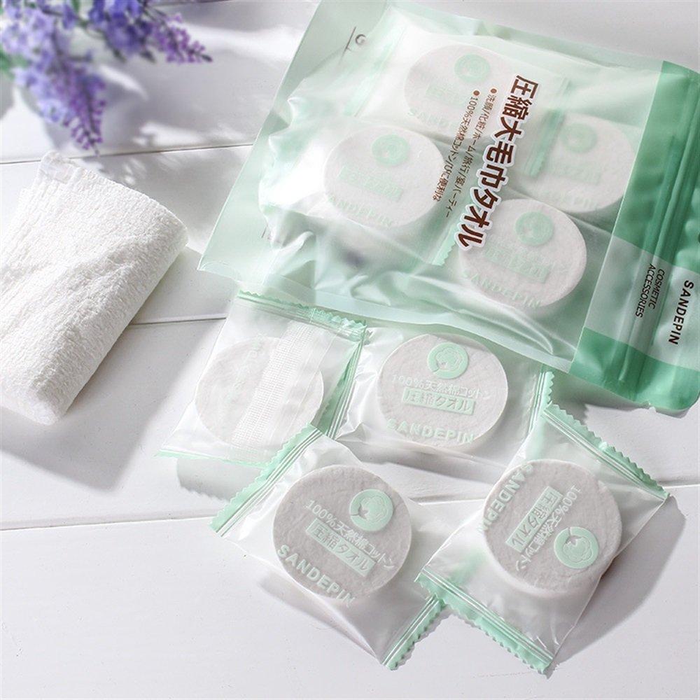salviette monouso riutilizzabili comodi asciugamani in puro cotone naturale compresse tovaglioli compressi tovaglioli Ddoq