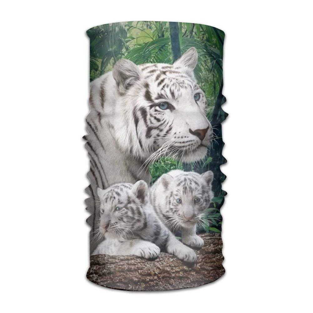Nifdhkw Nature White Tiger Headwear for Men and Women-Yoga Sports ...