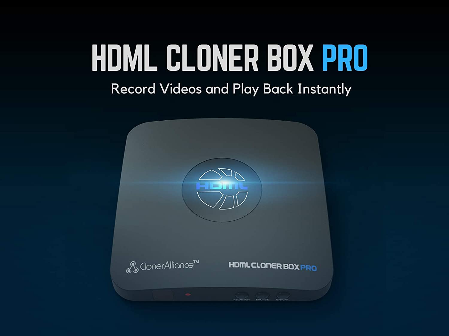 ClonerAlliance HDML-Cloner Box Pro, capture 1080p HDMI videos games and  play back instantly with the remote control, schedule recording,  HDMI VGA AV YPbPr ... b77ebac1ee