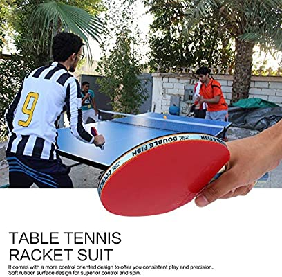Ruirain-ES Double Fish Outdoor Indoor Sports Table Tennis Rackets ...