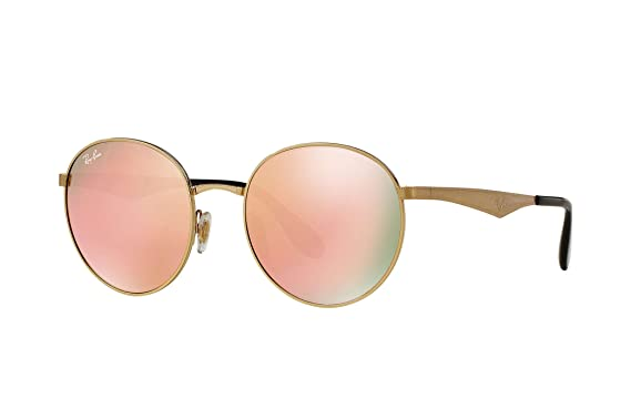 643a87697b0d Image Unavailable. Image not available for. Color: Ray-Ban Women's  Highstreet Round Sunglasses ...