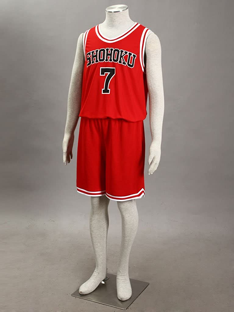 1d76794e2 Amazon.com  Mtxc Men s Slam Dunk Cosplay Miyagi Ryota Shohoku High School  Basketball Jersey  7  Toys   Games