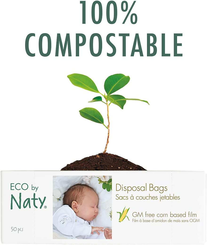 Naty by Nature Babycare Eco Nappy Bags 50s Pack of 4