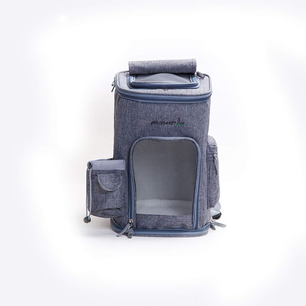 2  43x26cmMIAOLIDP Cat out of the backpack  breathable  runaway  carrying case Pet cat carrier (color   1 , Size   43x26cm)