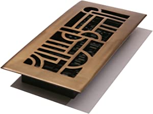 Decor Grates AD212-RB Art Deco Floor Register, 2-Inch by 12-Inch, Rubbed Bronze Finish