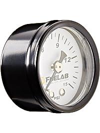 """Fuelab 71502 1.5"""" 0-15 Psi Carbureted Fuel Pressure Gauge"""