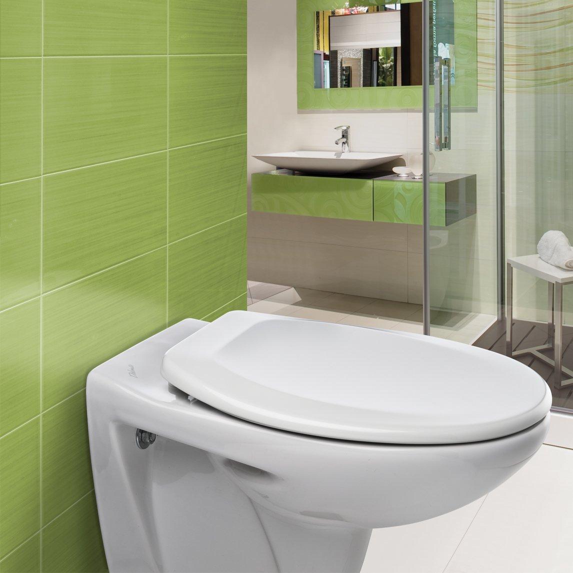 con cerniere in acciaio INOX Bemis Ashford 7250STX Sedile WC in materiale termoplastico colore: Bianco