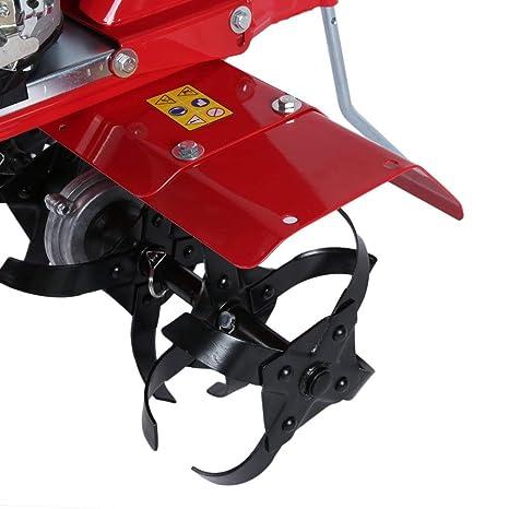 hehi Lark Gasolina gartenfräse eléctrico suelo azada 2500 W Tiller 4 del 139 cc azada Motobinadora suelo Fresadora Cultivador Fresadora Cutting Path: ...