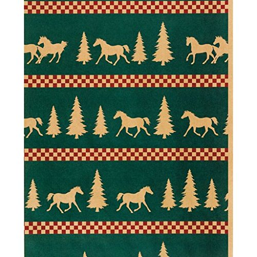 Horseshoe Gift Packaging Forest Frolic Holiday Horse Wrapping (Frolic Horse)