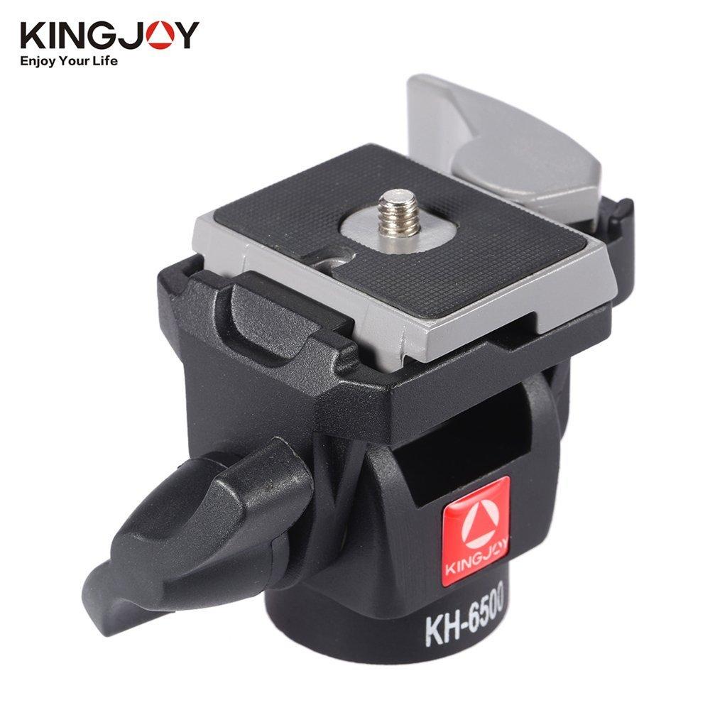 KINGJOY KH-6500 Camera Ball Head Aluminum Alloy Monopod Swivel Tilt Head for Canon Nikon Sony Max Load 2.5Kg