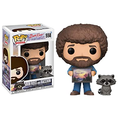 Funko POP! TV: Bob Ross - Bob Ross with Raccoon (Styles May Vary) Collectible Figure: Funko Pop! Television:: Toys & Games
