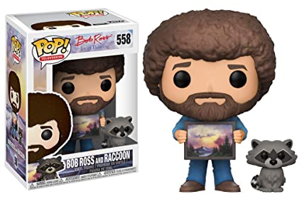 Funko Pop Vinyl Figuras 558 Bob Ross and Raccoon, 9 cm, 25701