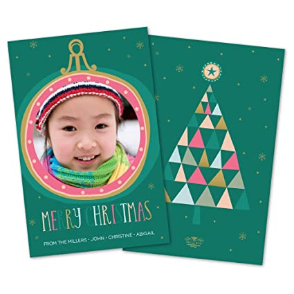 Amazon colorful large ornament personalized christmas card colorful large ornament personalized christmas card m4hsunfo