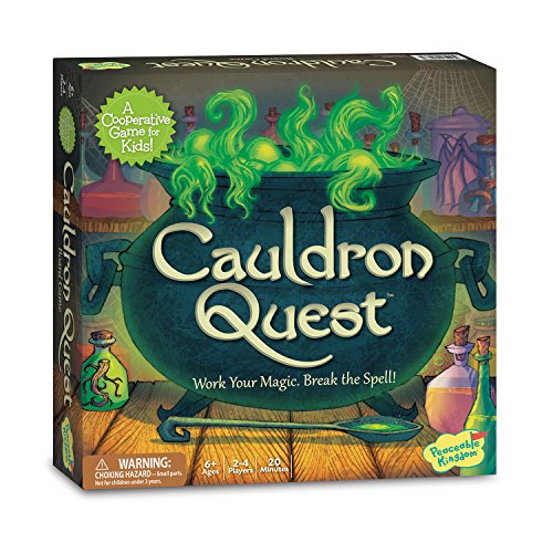 Peaceable Kingdom Cauldron Quest Award Winning Cooperative Potions and Spells Game for Kids