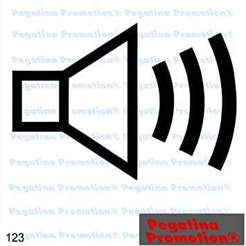 Piktogramm Typ 123 Icon Symbol Zeichen Lautsprecher Lautstärke ...