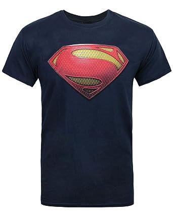 01111545455fc Amazon.com  Official Superman Man of Steel Textured Men s T-Shirt ...