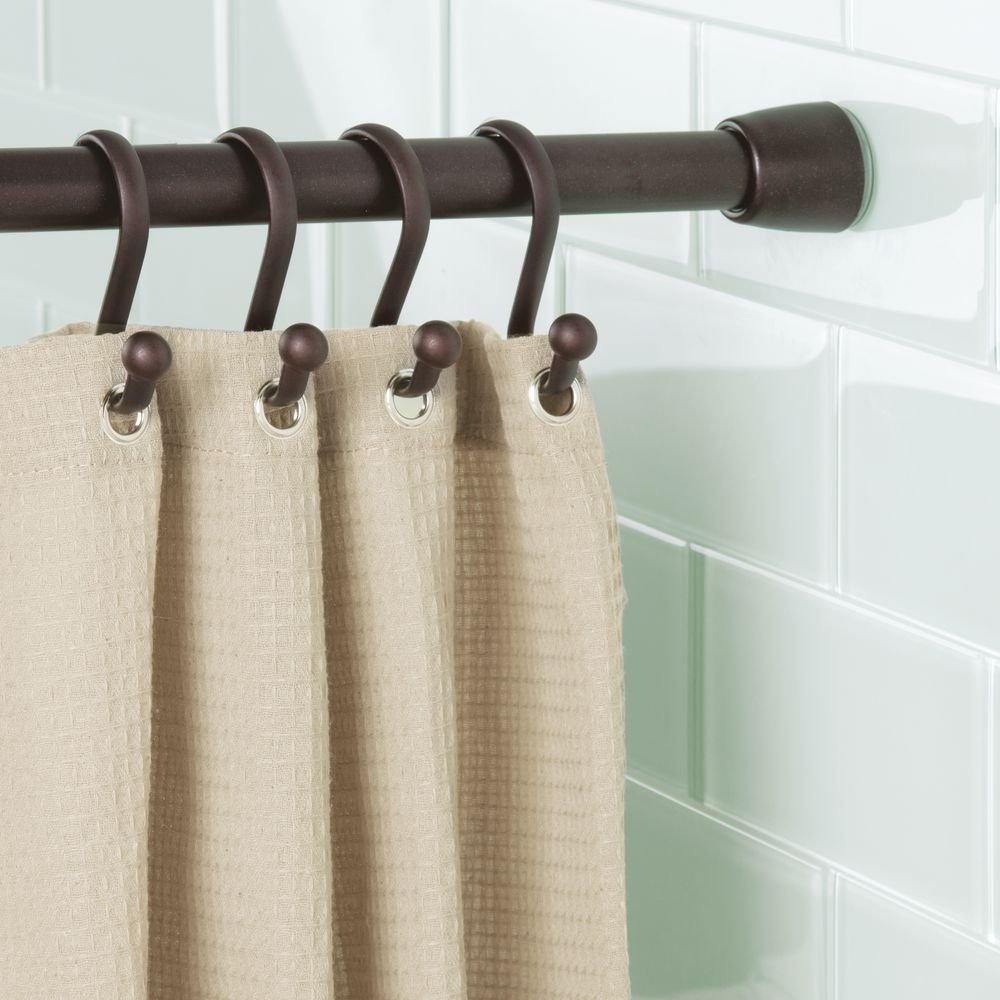 Amazon InterDesign Cameo Constant Tension Shower Curtain Rod Extendable 25 43 Small Bronze Industrial Scientific