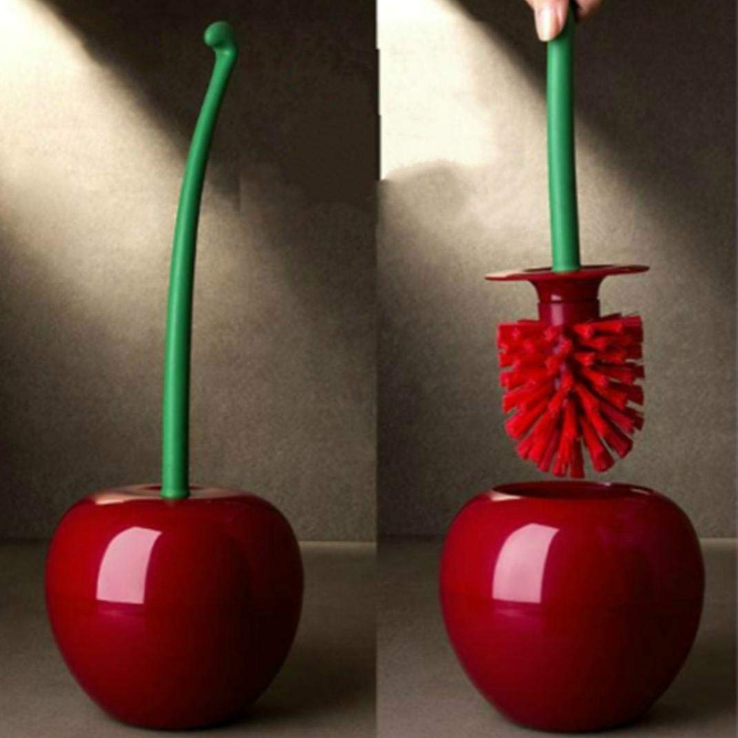 Gaddrt Cherry Shape Toilet Brush, Toilet Bathroom Toilet Clean Tool Bathroom Supply Brush