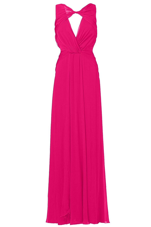 Balleay Women's Deep- V Neck Sleeveless Vintage Chiffon Dress Prom Dresses