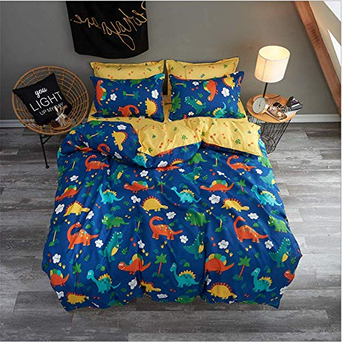 Bed Duvet Cover Bed Flat Sheet Pillow Case Twin Full Queen King Size Bedding Set F 200x230cm -