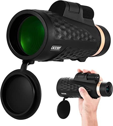 Occer 12×50 High Power Monocular Telescope for Adults, Compact Travel Monoculars with 20mm Large Eyepiece Dual Focus, Low Light Spotting Scope for Bird Watching,Hunting,Hiking Travel,Gift for Men