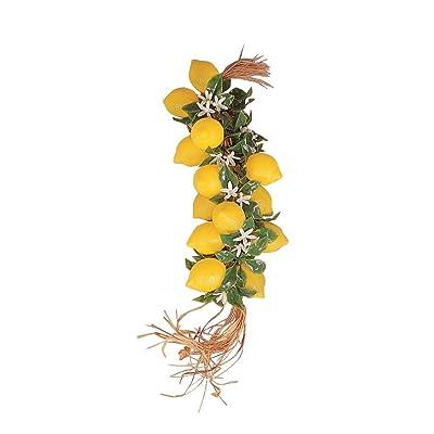 50 cm Guirnalda con 20 Limones con flores de plástico - Fruta Deko falsa, alimentos imitación Plátano, Fake Food, decorar falsa, Idea verano, Theater requisite: Hogar