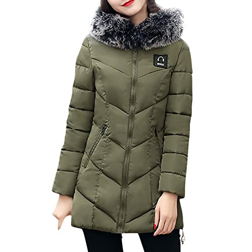 Kukul CRO-57 Mujer Abrigos de invierno Nuevo Abajo chaqueta con Capucha Down Jacket Overcoat