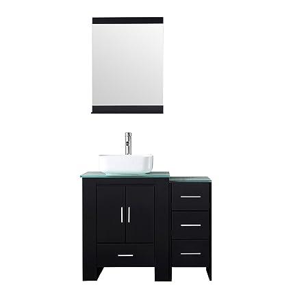 Delicieux Sliverylake 36u201d Bathroom Vanity And Sink Combo   Black