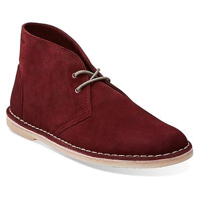 Clarks Originals Men's Shoes Wine Suede Jink Desert Chukka Boots