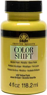 product image for FolkArt Color Shift Acrylic Paint in Assorted Colors (4 oz), Yellow Flash