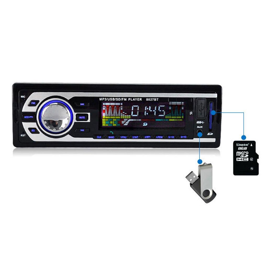 8027BT Car Stereo Radio In-Dash Bluetooth Headunits 1DIN FM