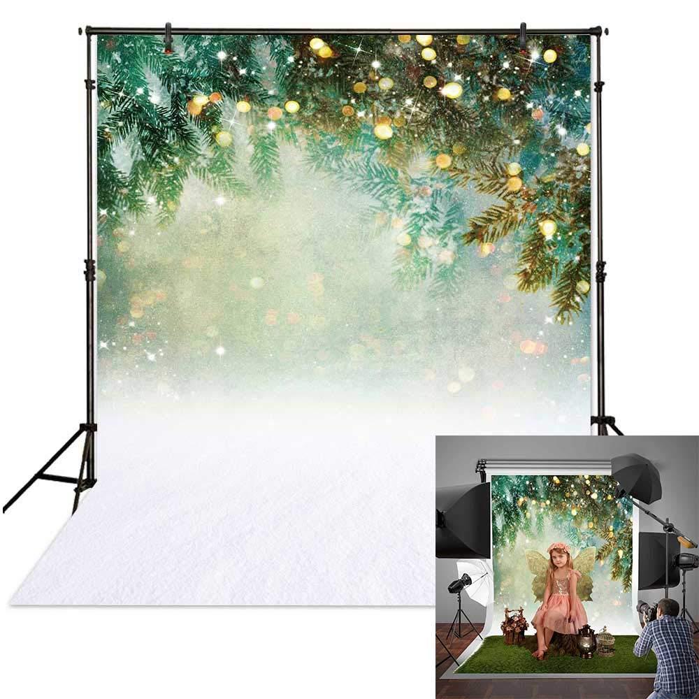Amazon.com : Funnytree 5x7ft Christmas Winter Green Bokeh ...