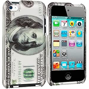 Accessory Planet(TM) Hundred Dollars 2D Hard Snap-On Design Rubberized Case Cover Accessory for Apple iPod Touch 4th Generation