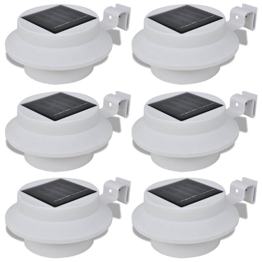 6x Solarleuchte Solarlampe LED Dachrinnen Außenlampe Zaunlampe Wandleuchte Licht