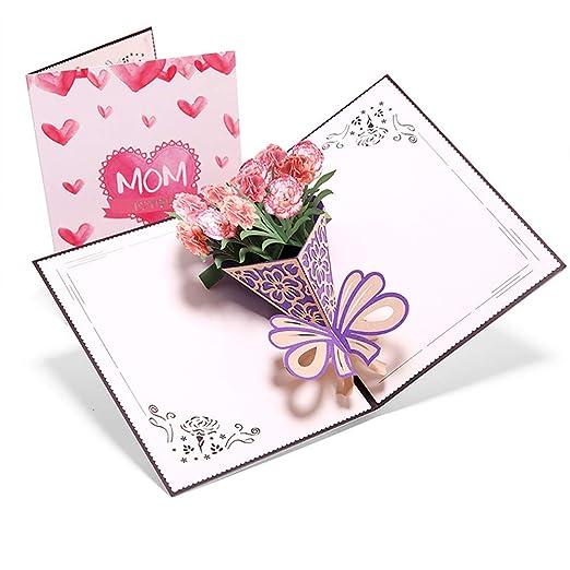 Tarjeta de felicitación desplegable con diseño de flor de ...