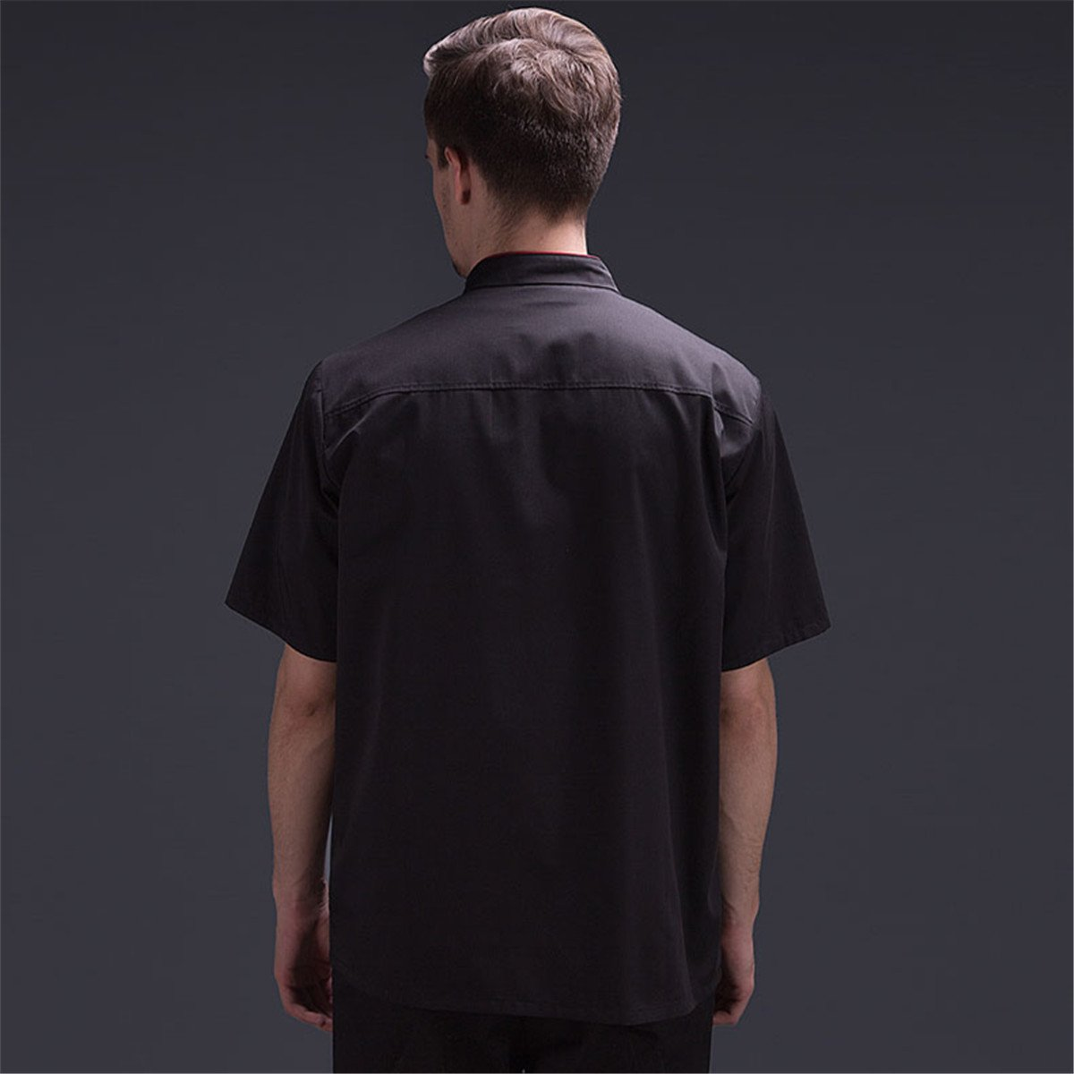 XINF Chef Uniform Short Sleeve Restaurant Work Dress Chef Jacket Double Breasted Chef Coat Summer by XINFU (Image #7)