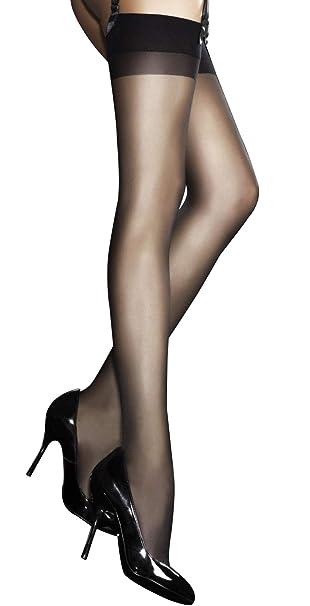 c068c6e613 Fiore, calze velate eleganti extra sottili, spessore 20 denari Black Large
