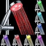 GreForest Doccetta a LED materiale ABS con funzione cambiacolore a 7 velocità RGB e illuminazione