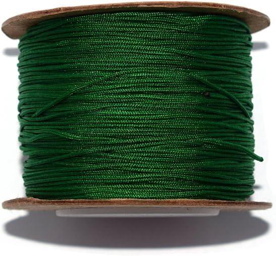 Braided Nylon Thread 0,8 mm Green x10 m