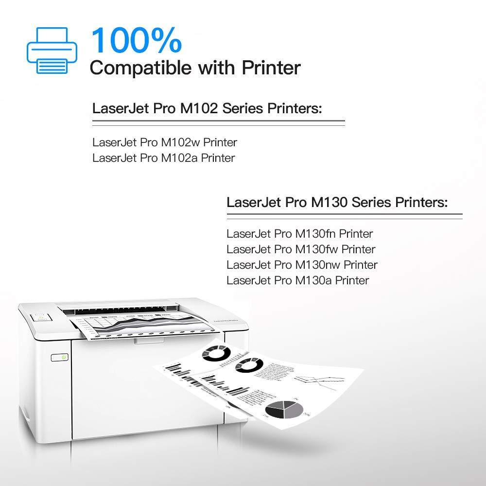 LxTek Toner (con Chip) Compatible para HP CF217A 17A Cartuchos de ...