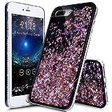 iPhone 8 Plus Case,iPhone 7 Plus Case,ikasus Flowing Floating Quicksand Bling Glitter Sparkle [TPU+PC] Rhinestone Diamond Bumper Glitter Sparkle Bling Case Cover for iPhone 8 Plus / 7 Plus,F
